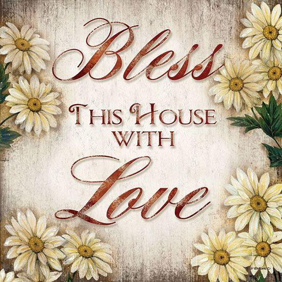 Bless This Home: Wall Art, Blessed, Folk Art, Clips Art
