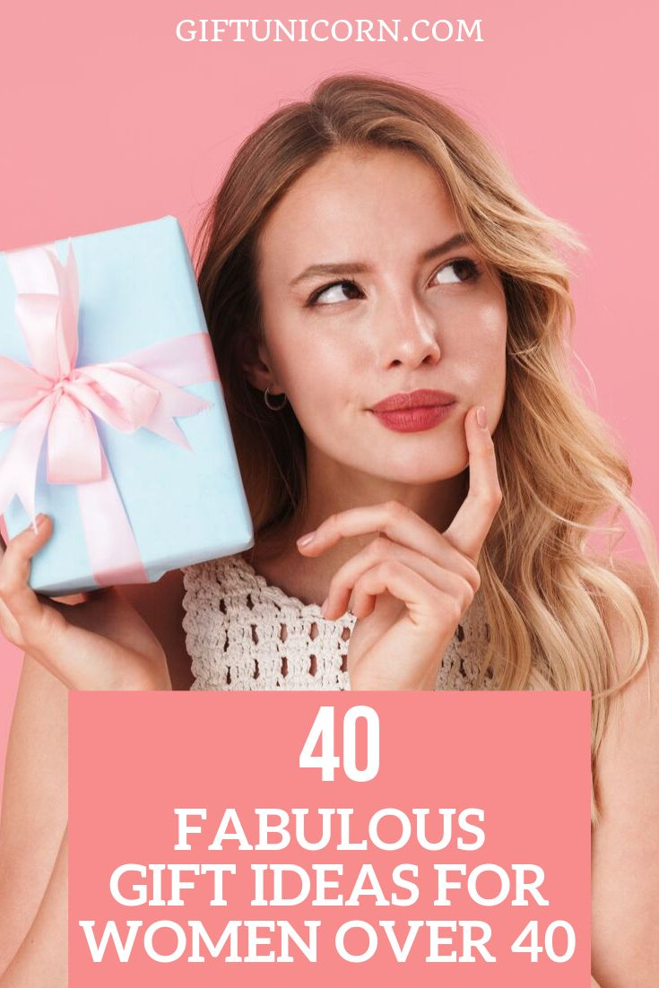 40 fabulous gift ideas for women over 40 years old with