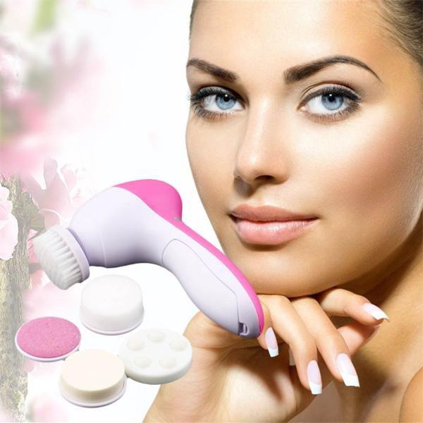 4 49 30 Off 5 في 1 الكهربائية غسل الوجه آلة الوجه المسام نظافة الجسم التطهير تدليك ا Face Brush Cleansing Facial Cleansing Brush Electric Facial Cleanser