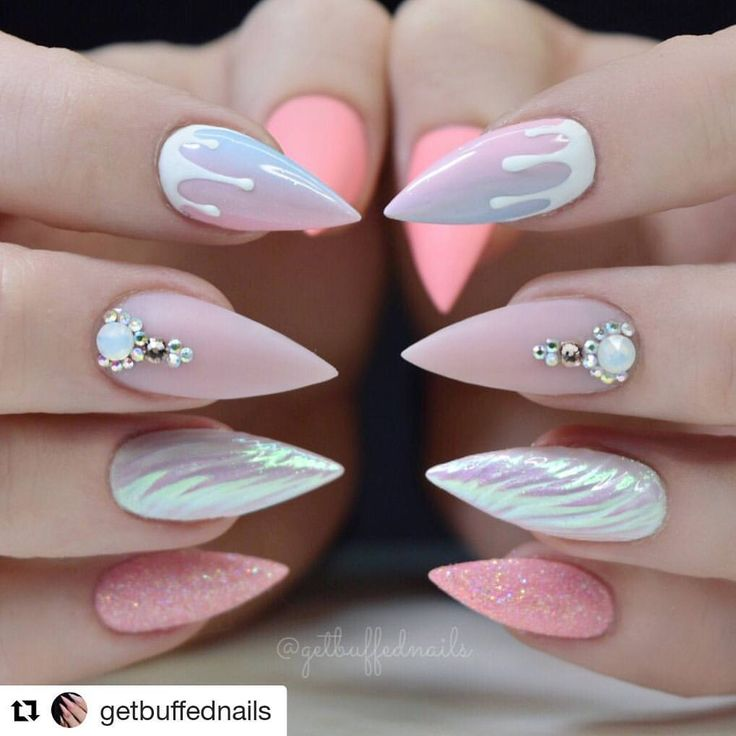 #Repost @getbuffednails (@get_repost) ・・・ Becoming a unicorn...  Phase ☝️ complete ⭐️ @gfa_australia gel polish  @uglyducklingnailsaustralia @uglyducklingnails Acrylic / top coat  @glitter_heaven_australia Glitter  @embellishedbyjaydean Bling  @nznailacademy White gel paint ⭐️