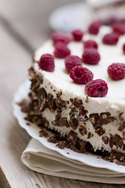 Raspberry cake...
