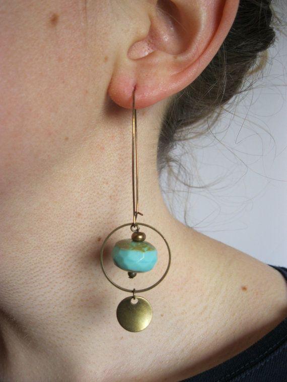 Boucles d'oreilles d'inspiration ethnique par AllGypsies sur Etsy