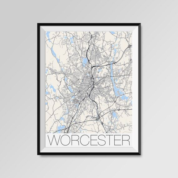 Worcester map, Massachusetts, Worcester print, Worcester poster, Worcester map art, Worcester city maps, Worcester Minimal Wall Art, Worcester Office Home Décor, black and white custom maps, personalized mapsAssumption, Becker, Clark University, Holy Cross, Mass. College of Pharmacy & Health Sciences, Quinsigamond Community College, UMass Medical School, Worcester State University, Worcester Polytechnic InstituteANY CITY IN THE WORLD - Custom city maps - Personalized mapshttps://www.e