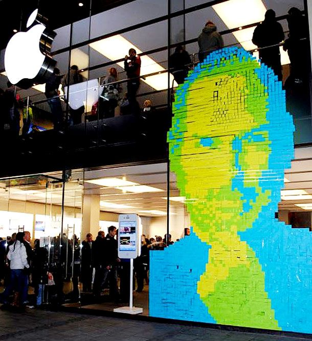 collected from SOGOODSOBAD.COM brilliant-post-it-notes-artwork-around-the-world-13: