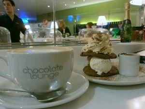 Chocolate Lounge, Harvey Nichols Edinburgh, conveyor belt of sweet treats and champagne, want to go!