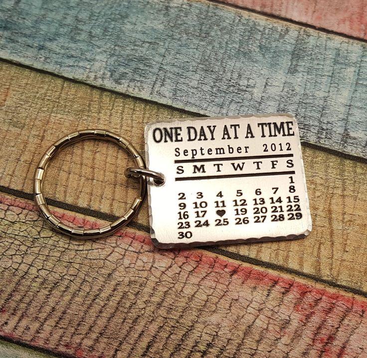 Sobriety Keychain, Sobriety Key chain, Sobriety Anniversary, Sobriety Milestone, Engraved keychain, Personalized keychain, Sobriety gift by ThatKindaGirl on Etsy