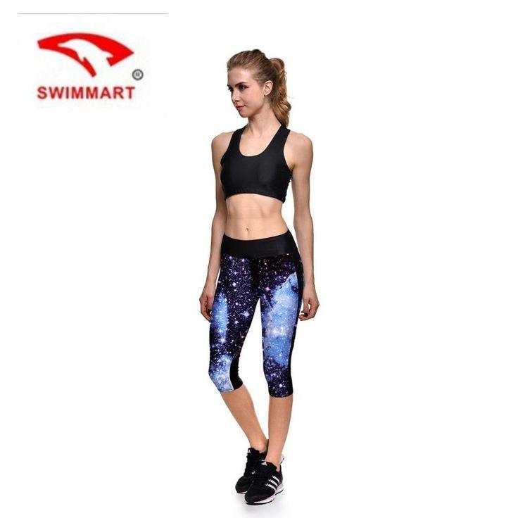 [Visit to Buy] SWIMMART 2017 Women Star Digital 3D Print Galaxy Leggings High Waist Pants Plus Size Slim Trousers Lady Yoga Leggins S-4XL  #Advertisement