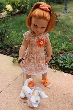 Tuto robe à rubans pour poupées Gotz - Maru ...(50 / 52 cm)... Une robe pour Ywenn ?