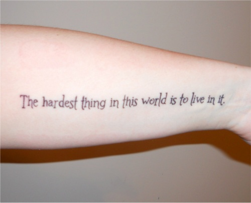 I always thought if I got a tattoo it would be Harry Potter-related, but Buffy would be cool too...