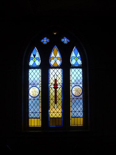 stained glass window St. Patrick's church, Prince Edward Island