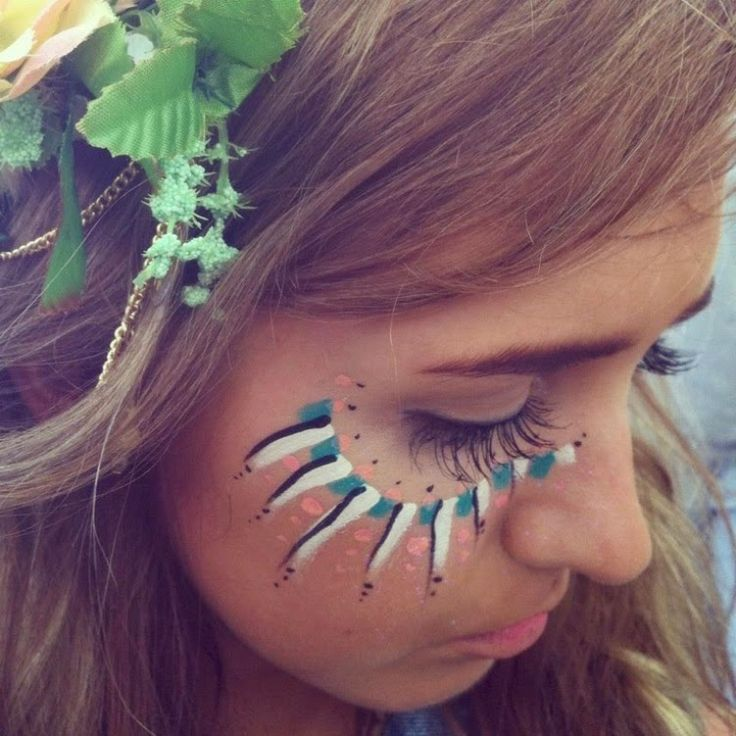 nature girl or something of that sort. Festival face paint