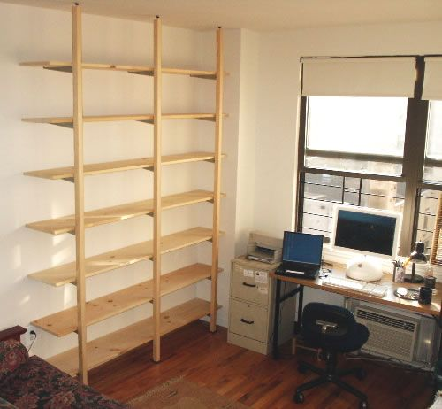 diy shelving system | Adjustable Shelves for $250 | Free standing shelves ...