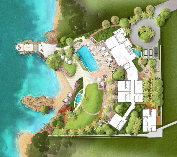 The Making of Andover 2012 Whitehouse, Jamaica by Charles Rulick, via Behance, Master Planning by Charles Rulick, Architecture by Alan Foster, Design/Illustration by Studio JDK - March 2013