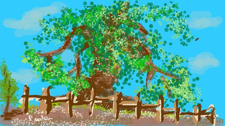 Sketch (...to the hairdresser ;-)  olive tree  #olivetree
