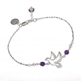 Ananda Live your Dream Bracelet • Sterling Silver • Amethyst • Aquamarine