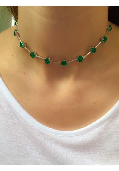choker-da-moda-esmeralda-colombiana-corrente-articulada-semijoias-prata 91ab431fae