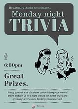 Trivia Head - Trivia night questions, Trivia night packages   Trivia Night Posters day