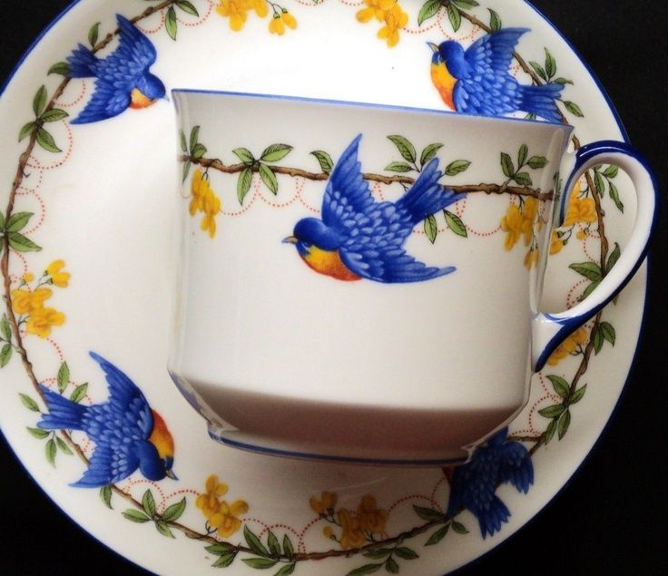 cups birds hand painted - Cerca con Google
