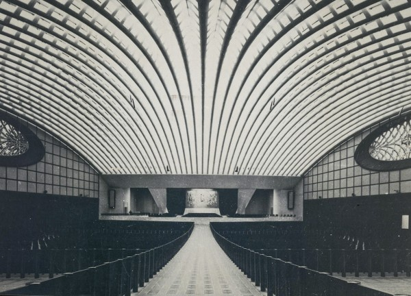 Paul VI Audience Hall in Rome (1971)  -Designed by Pier Luigi Nervi