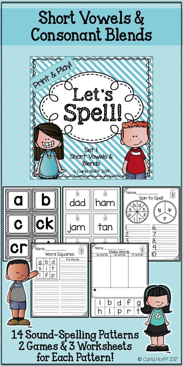 worksheet Consonant Trigraphs Worksheets 636 best phonics and word work fun images on pinterest english spelling worksheets games short vowels blends