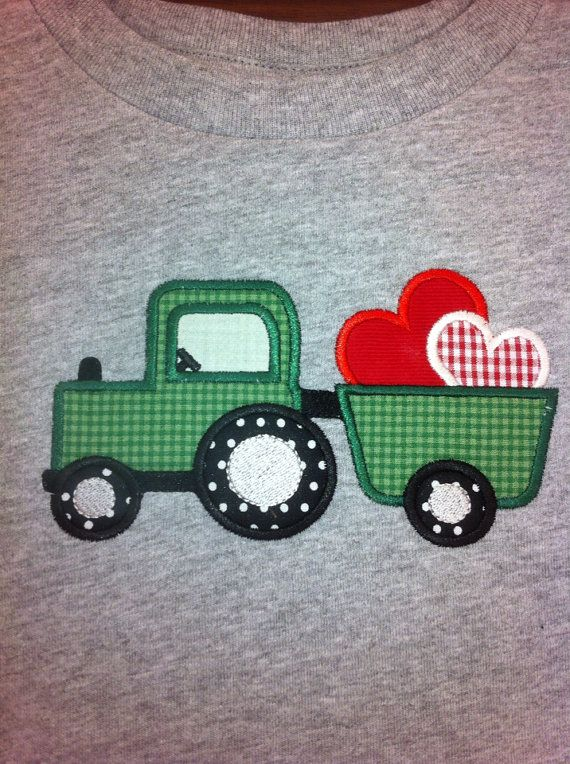 Embroidery Of Tractors : Images about valentine embroidery designs on pinterest