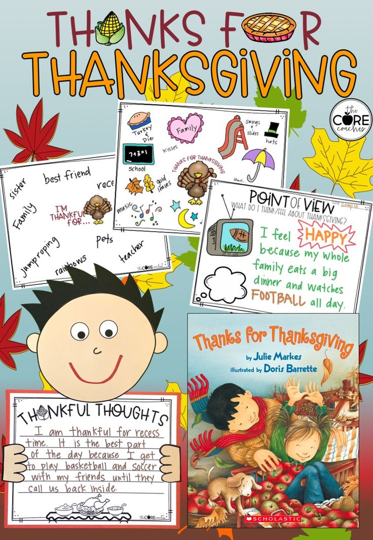 Thanks for Thanksgiving Interactive ReadAloud Lesson