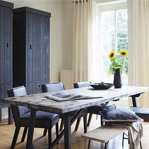 BePureHome Eettafel Craft zwart bruin grenen 240x90x76cm