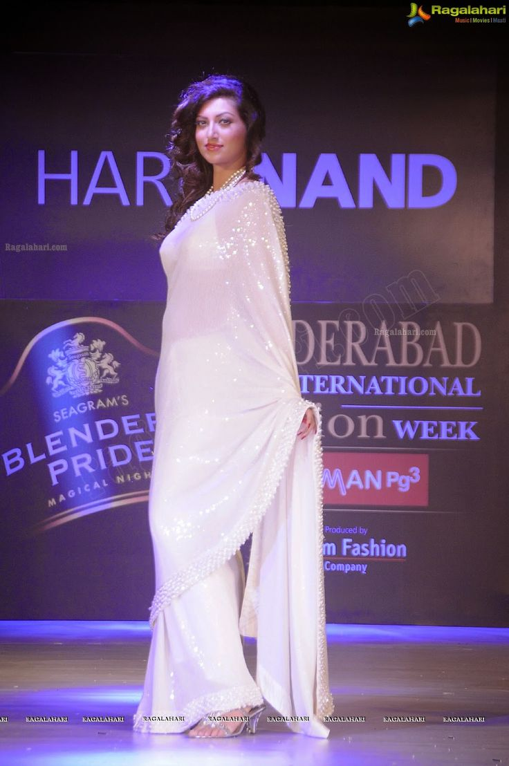 Actress Hamsa Nandini Transparent White Saree