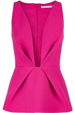finders keepers the creator plunging neckline top pink