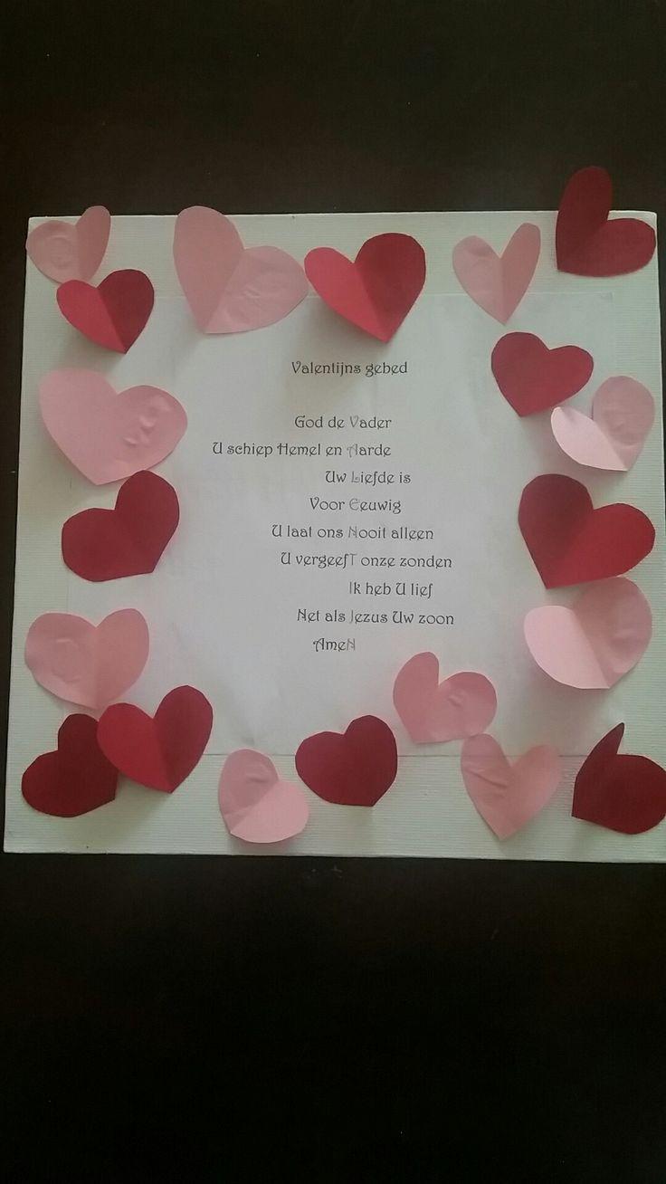 Valentijns  gebed #valentijn #gebed Knutselen op canvas