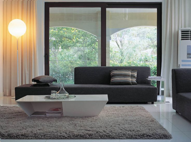 Chaise Sofa Simply Casa us SIMPLY SOFA Contemporary living room modern living room Black contemporary sofa