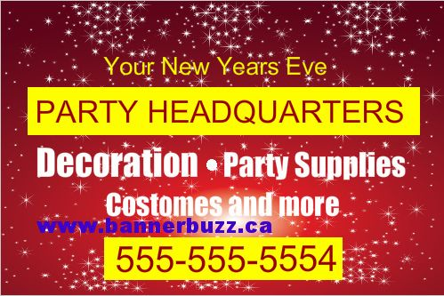 Advertise Your Part Service Headquarters On Party Vinyl Banners online from www.bannerbuzz.ca Now BannerBuzz team also in Canada.