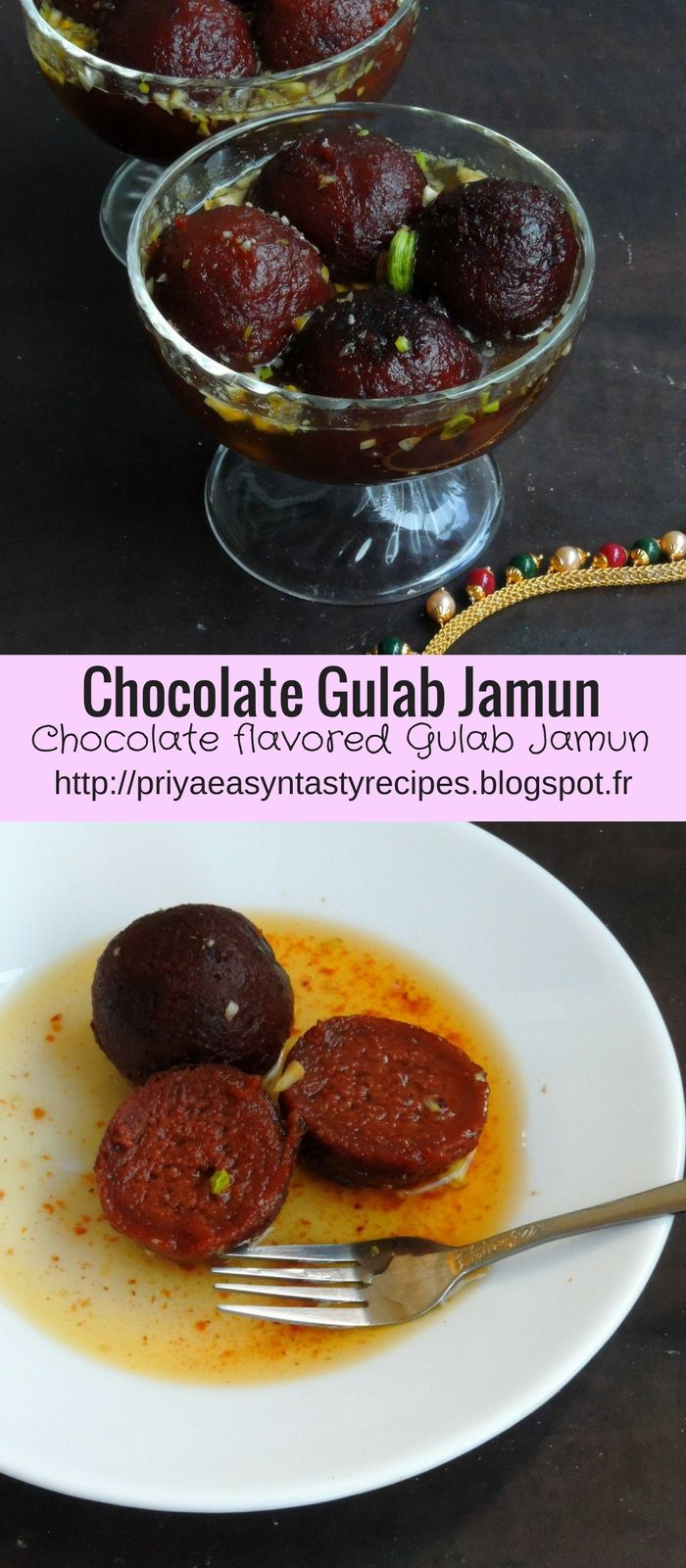 Chocolate Gulab Jamuns/Dark Chocolate Gulab Jamuns