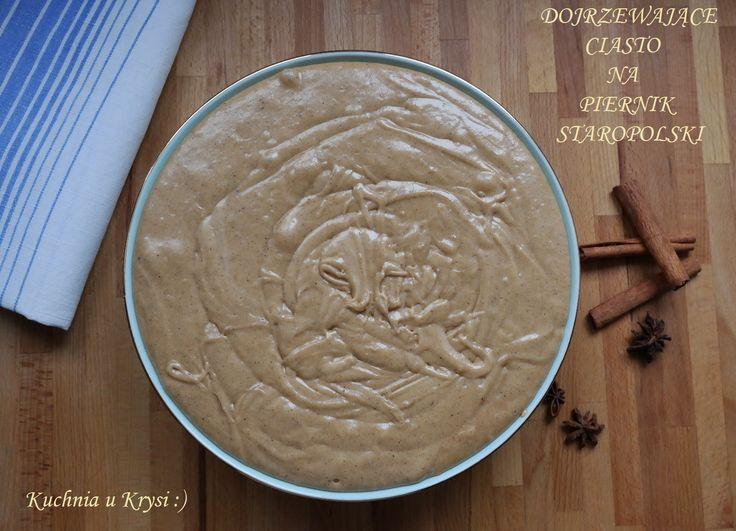 Dojrzewające ciasto na piernik staropolski