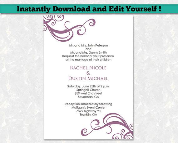 12 best Editable Baby Shower Invitation Templates images on - event invitation templates