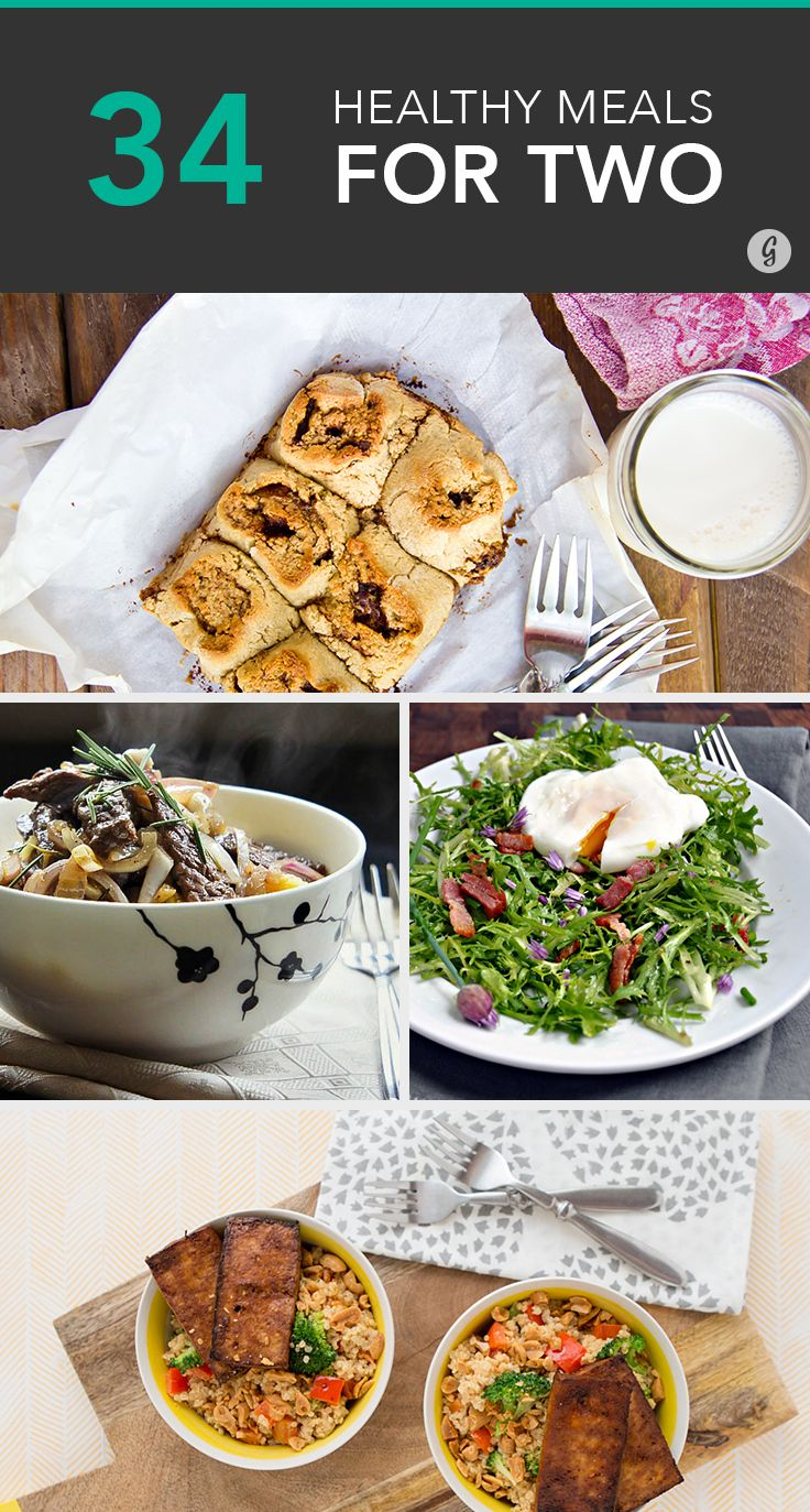 34 Cheap and Healthy Meals for You and Yours — Easy, cheap, fast meals that'll have both of you licking your plates clean. #easy #fast #healthy #greatist