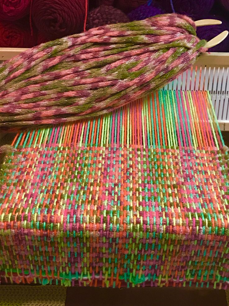 Once I got the warp, the weft looked awful. So aft…