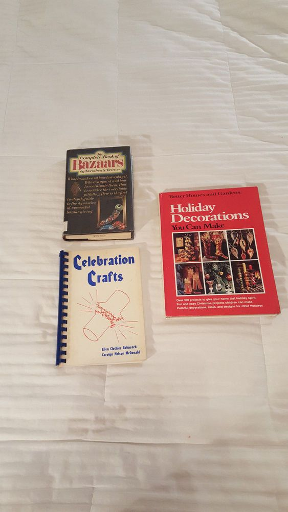 3 BOOK LOT Holiday Celebration Crafts, BH&G Holiday, Complete Book of Bazaars #Unbranded