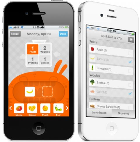LaLa Lunchbox is a brandnew iphone app that lets your kids plan their own lunches and teaches them to make smarter food choices!
