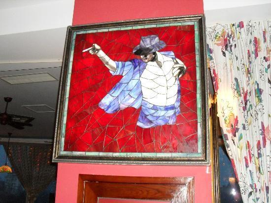 Stain glass of #MichaelJackson 2nd Floor Zhongtian Shengshi Guanlan, No.25 Binhai Middle Road, Laishan District, Yantai, China.