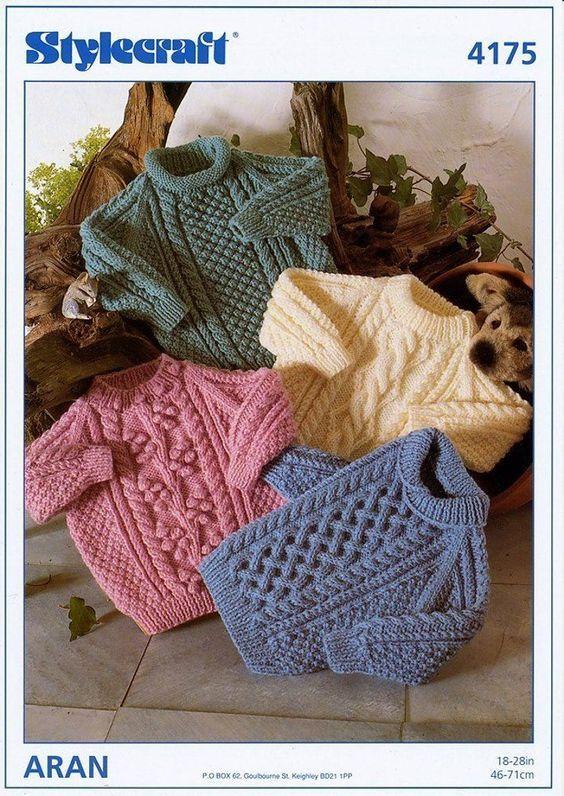 052420a8c PDF Digital Download Vintage Knitting Pattern Stylecraft 4175 4 Baby ...