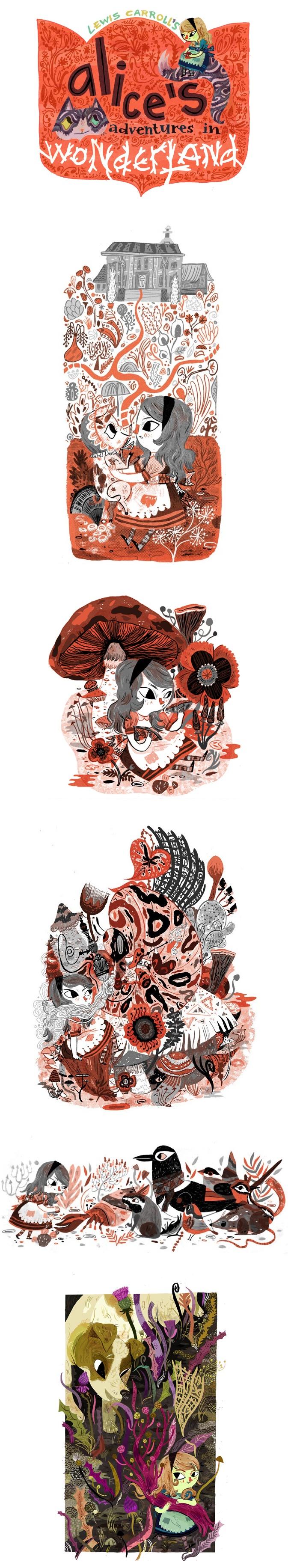 Interesting series of Alice in Wonderland paintings by #MegHunt