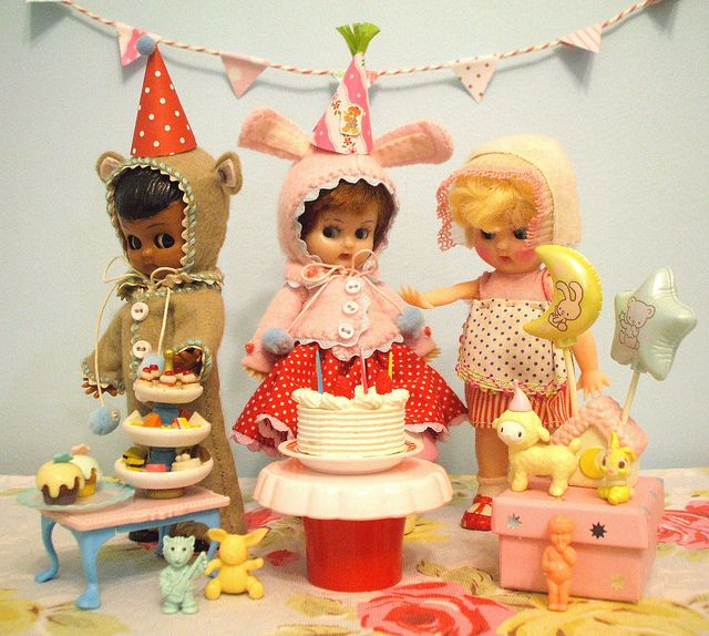 Sweet vintage toys | this is what my party would look like.....every day :) Miss H. eat your heart out.