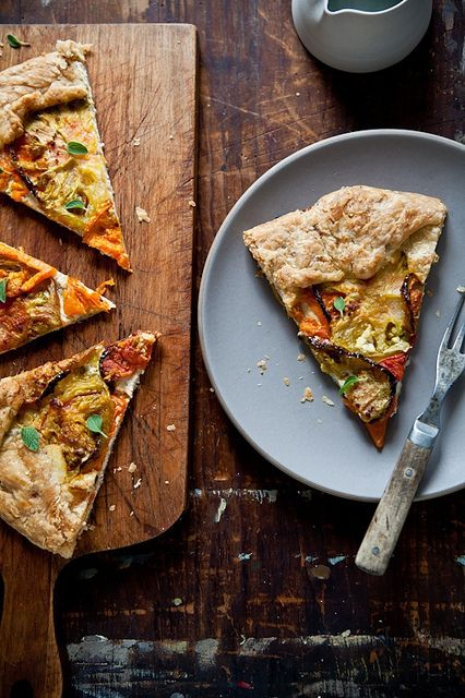 Heirloom Tomato Galette (instructions on how to make a gluten free version)