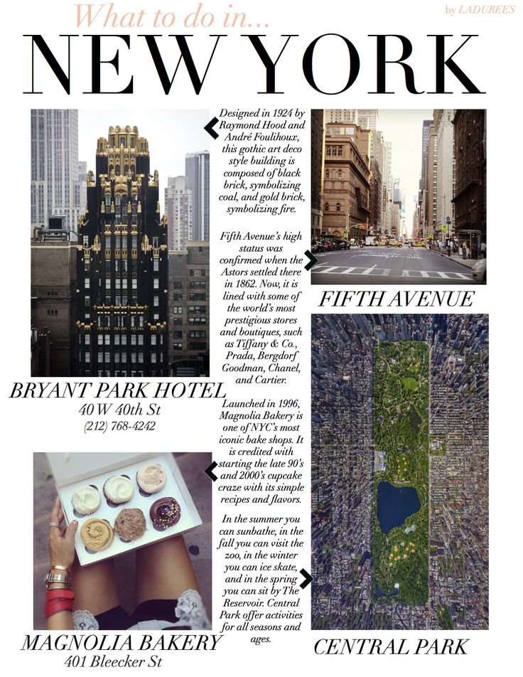 Things to do in NYC—besides visit our Soho and Fifth Ave stores, of course.