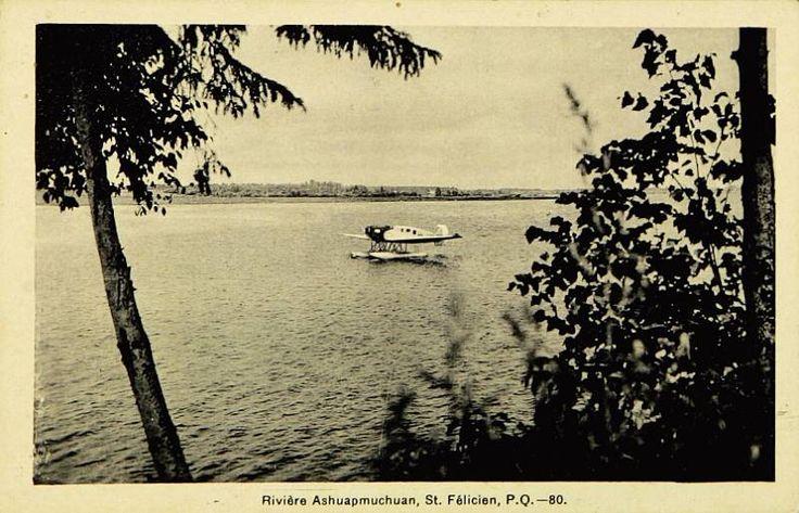 Rivière Ashuapmuchuan [sic], St. Félicien [sic], P. Q.
