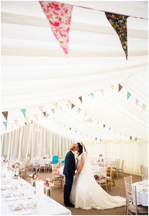 Country Fete Wedding Banners in reception hung like this
