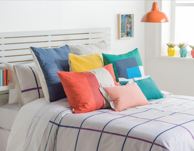 Los cojines son el complemento ideal para cualquier cama.