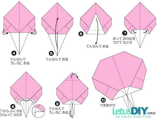 Paper Folding Chinese Fan LetusDIYORG