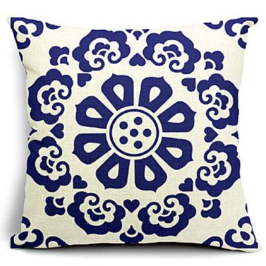 Chinese Floral Cotton/Linen Decorative Pillow Cover – AUD $ 21.44